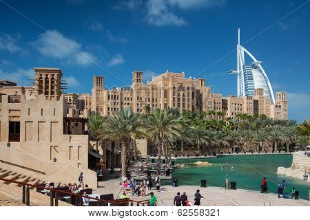 View Of The Souk Madinat Jumeirah.madinat Jumeirah Contain Two Hotels And Clus
