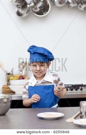 Little Child Ready To Bake