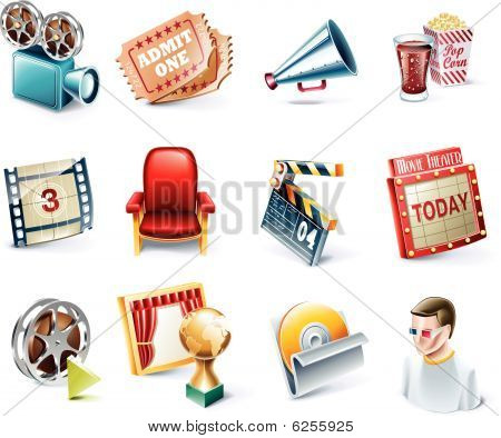 Vector cartoon stijl icon set. Deel 31. Film