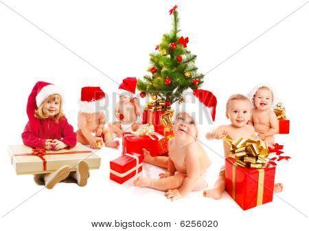 Group Of Christmas Kids