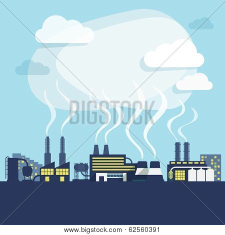 Industry background print