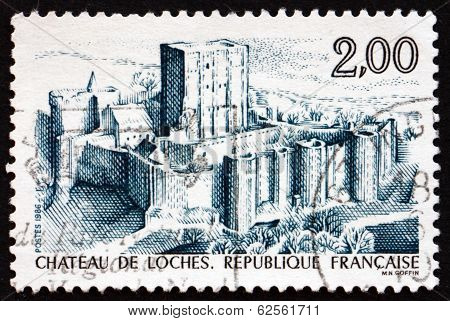 Postage Stamp France 1986 Loches Chateau