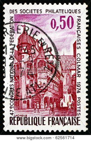 Postage Stamp France 1974 Pfister House, Colmar