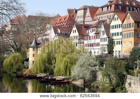 Tübingen with Hölderlin tower