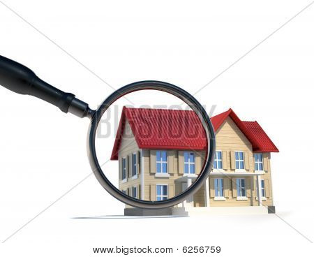 House And Magnify Glass