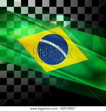 Concept vector design of Brazilian flag