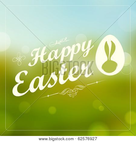 illustration of Happy Easter typography background