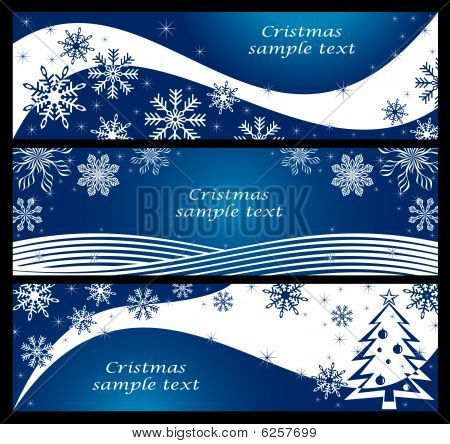 Blue Winter Banner.