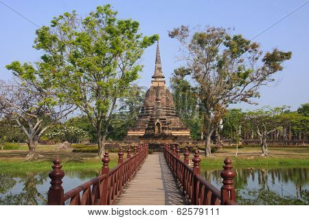 Old Buildings In The Historical Park In Sukhothai
