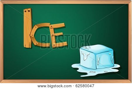 Illustration of a blackboard with an ice