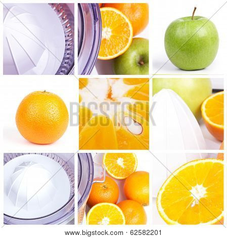 Fruits Squeezer Collage