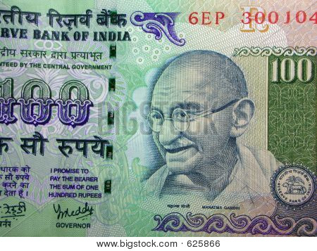 Indian currency - Gandhi closeup