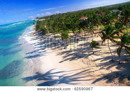 Aerial view of Macao beach, Bavaro