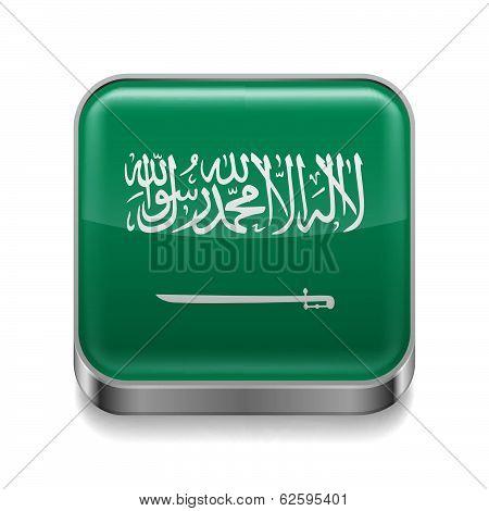 Metal  icon of Saudi Arabia