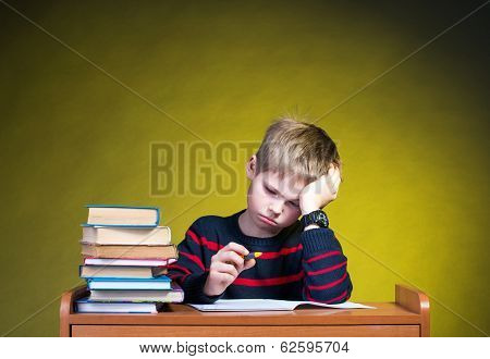 Child with learning difficulties.