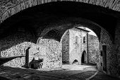 picture of foreshortening  - Houses At Assisi - JPG