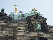 stock photo of dom  - central fragment of famous Berliner Dom building in German capital - JPG