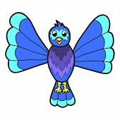 pic of bluebird  - Cute fantasy bluebird - JPG