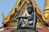 picture of hermit  - statue of Hermit Doctor at the Grand Palace in Bangkok - JPG
