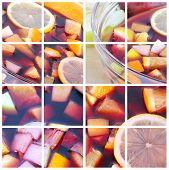 picture of sangria  - Cocktail collage - JPG