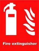 image of fire brigade  - Vector Illustration of a Fire Extinguisher Symbol - JPG