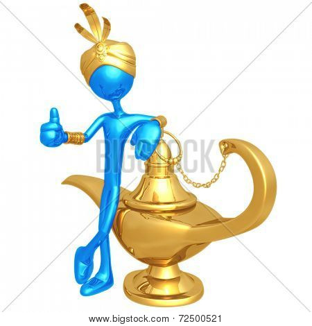 Djinn With Magic Lamp
