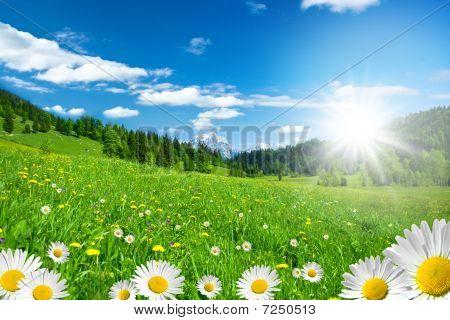 tempo de Primavera nos Alpes