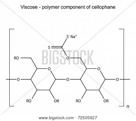 Structural Chemical Formula Of Viscose Polymer