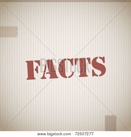 Facts Rubber Stamp