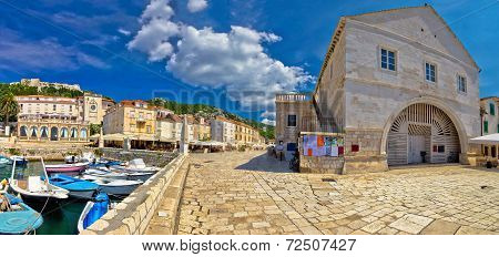 Island Of Hvar Old Waterfront View