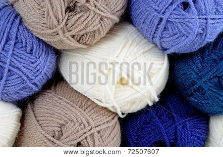 Balls of wool,