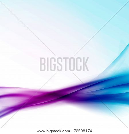 Satin Colorful Swoosh Wave Background Template