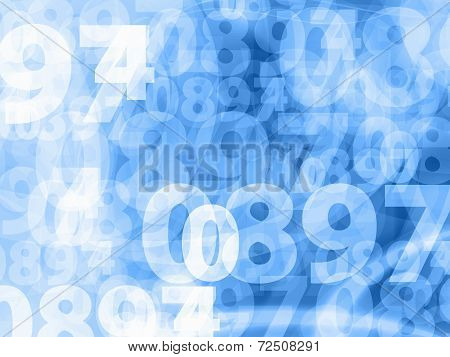 Light Blue Numbers Background Texture