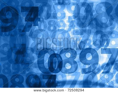 Dark Blue Numbers Background Texture