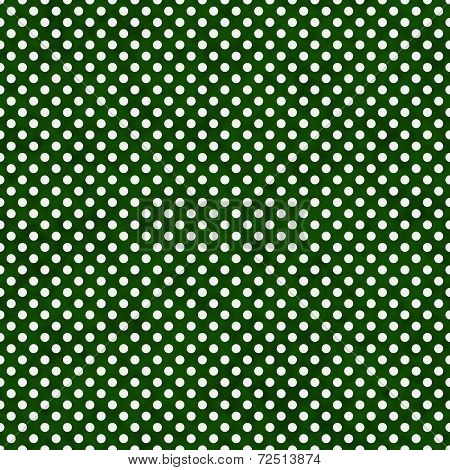 Dark Green And White Small Polka Dots Pattern Repeat Background