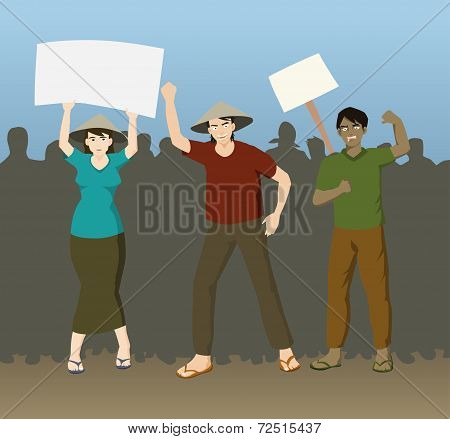 Farmers Demonstration Demanding Justice.eps