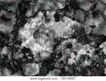 Black And White Marble Texture Background