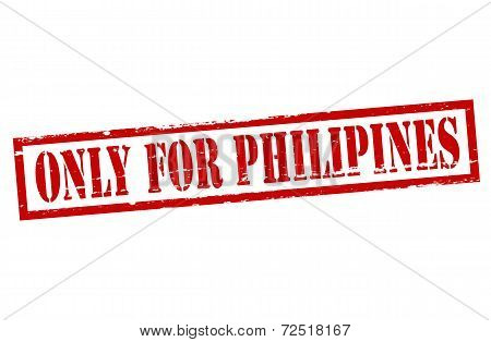 Only For Philipines
