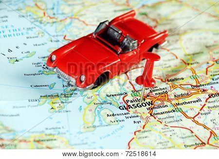 Glasgow Scotland Car Map