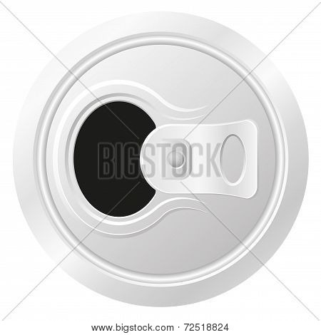 Open Can Of Beer Vector Illustration