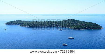 Island In The Adriatic Sea.