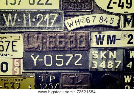 Rusty License Plates