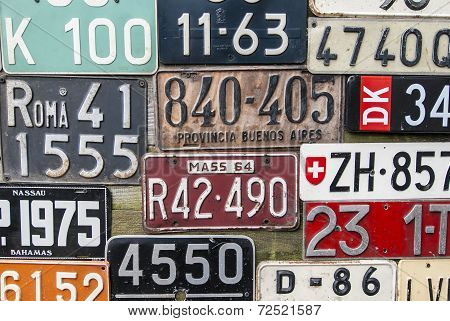 Aged License Plates