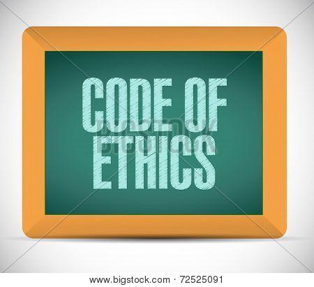 Code Of Ethics Message Illustration Design