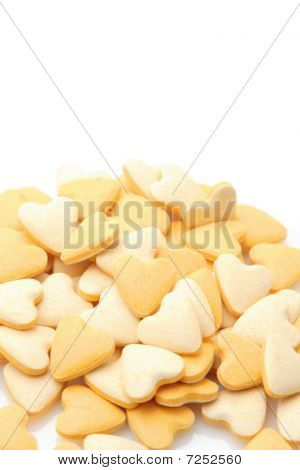 Pile Of Vitamin Tablets Isolated Over White Background