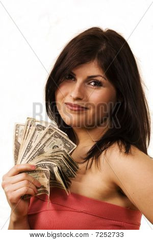 Female With Cash