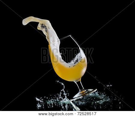 Falling Glass Of Beer