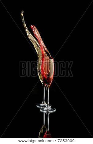 champagne splash pink and yellow