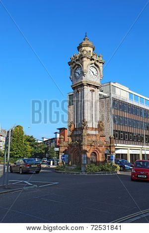 Clock Tower In Exeter, Devon, United Kingdom