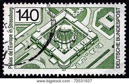 Postage Stamp Germany 1977 Palace Of Europe, Strasbourg